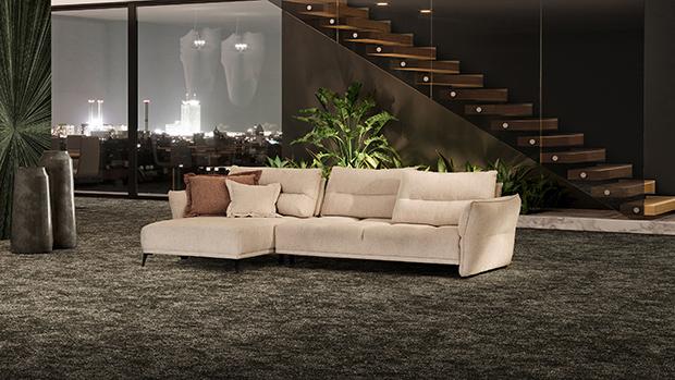 Canapé d'angle chaise longue Intrigo