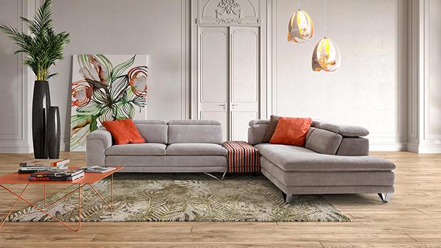 Canapé d'angle Méridienne Stone
