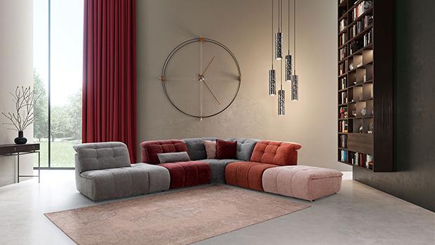 Canapé d'angle modulable Safran